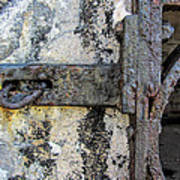 Antique Textured Metalwork Gate Art Print