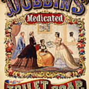 Antique Toilet Soap Ad - 1868 Art Print