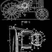 Antique Tractor Patent Art Print