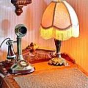 Antique Victorian Desk At The Boardwalk Plaza - Rehoboth Beach Delaware Art Print