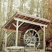 Antique Wagon Wheel Art Print