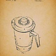Antique Westinghouse Coffee Maker Patent 1964 Art Print