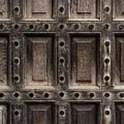 Antique Wooden Door Closeup Art Print