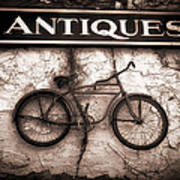 Antiques And The Old Bike Art Print by Bob Orsillo