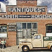 Antiques Blacksmith And Horseshoer Art Print