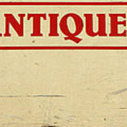Antiques Sign Art Print