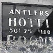 Antler's Hotel Front Door Ghost Town Victor Colorado 1971 1971-2013 Art Print