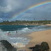 Anuenue - Aloha Mai E Hookipa Beach Maui Hawaii Art Print