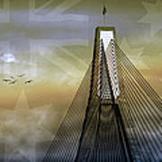 Anzac Bridge Art Print