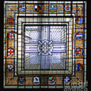 Anzac Day 2014 Auckland War Memorial Museum Stained Glass Roof Art Print
