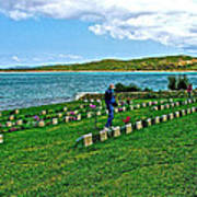 Anzak Cemetery Along The Dardenelles In Gallipolii-turkey Art Print