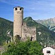 Aosta Valley - Chatelard Ruins Art Print