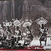 Apache Crown Dancers Date And Location Unknown 2013 Art Print