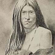 Apache Girl 1906 Art Print