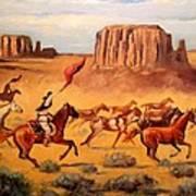 Apache Horse Hunters Art Print