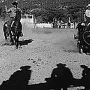 Apache Roping Cow Labor Day Rodeo White River Arizona 1969 Art Print