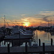 Apalachicola Marina At Sunset Art Print