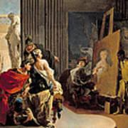 Apelles Painting The Portrait Of Campaspe Art Print