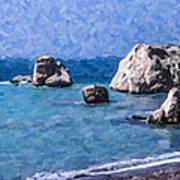 Aphrodites Rock Cyprus Art Print