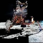 Apollo 11 Moon Landing Art Print