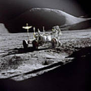 Apollo 15 Lunar Rover Art Print