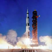Apollo 8 Launch Art Print