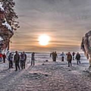 Apostle Islands Ice Cave Sunset Art Print