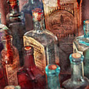 Apothecary - A Series Of Bottles Art Print