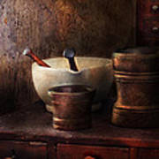 Apothecary - Pick A Pestle  Art Print by Mike Savad