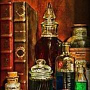 Apothecary - Vintage Jars And Potions Art Print