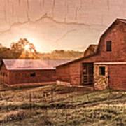 Appalachian Barns Art Print