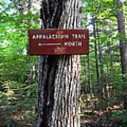 Appalachian Trail Sign North Art Print