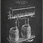 Apparatus For Beer Patent From 1900 - Dark Art Print