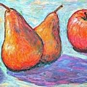 Apple And Pear Twirl Art Print