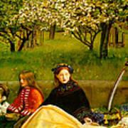 Apple Blossoms Print by John Everette Millais