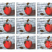 Apple Collage Art Print