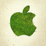 Apple Grass Logo Art Print