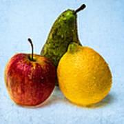 Apple - Lemon - Pear Art Print