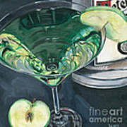 Apple Martini Art Print by Debbie DeWitt