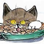 Apple Pie Vs. Hungary Cat Art Print