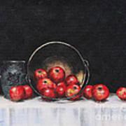 Apple Still Life Art Print by Rita Miller