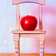 Apple Still Life With Doll Chair Art Print by Edward Fielding