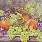 Apples And Grapes Art Print