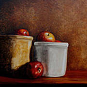 Apples And Jars Art Print