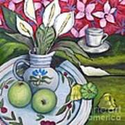 Apples And Lilies Art Print