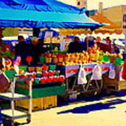 Apples Cortlands Lobos Honey Crisps Mcintosh Atwater Market Apple Fruit Stall Foodart Carole Spandau Art Print