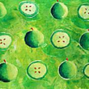 Apples In Halves Art Print