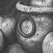 Apples In Stoneware Art Print by Michelle Harrington