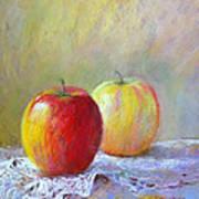 Apples On A Table Art Print