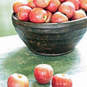 Apples On The Table  Art Print